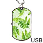 Fern Leaves Dog Tag USB Flash (One Side) Front