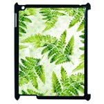 Fern Leaves Apple iPad 2 Case (Black) Front