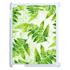 Fern Leaves Apple iPad 2 Case (White)