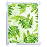 Fern Leaves Apple iPad 2 Case (White) Front