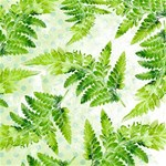 Fern Leaves Twin Heart Bottom 3D Greeting Card (8x4) Inside