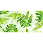 Fern Leaves Twin Heart Bottom 3D Greeting Card (8x4) Back