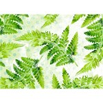 Fern Leaves Circle Bottom 3D Greeting Card (7x5) Front