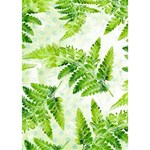 Fern Leaves Circle Bottom 3D Greeting Card (7x5) Inside