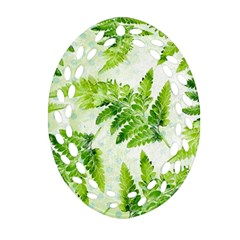 Fern Leaves Oval Filigree Ornament (2-Side)