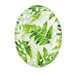 Fern Leaves Oval Filigree Ornament (2-Side)  Front
