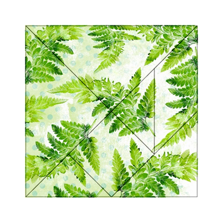 Fern Leaves Acrylic Tangram Puzzle (6  x 6 )