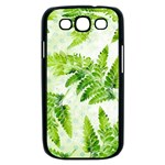 Fern Leaves Samsung Galaxy S III Case (Black) Front
