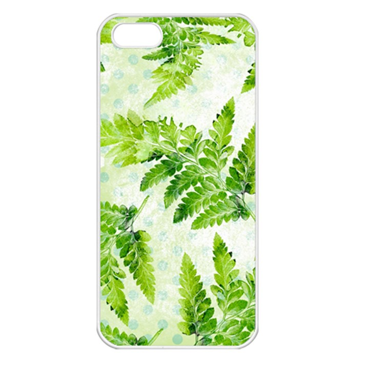 Fern Leaves Apple iPhone 5 Seamless Case (White)
