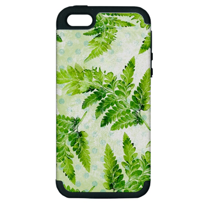 Fern Leaves Apple iPhone 5 Hardshell Case (PC+Silicone)