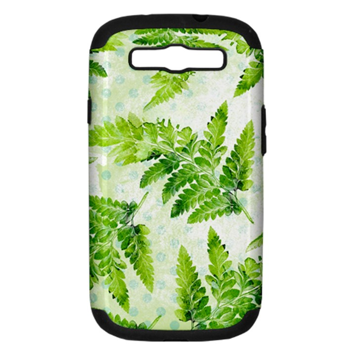 Fern Leaves Samsung Galaxy S III Hardshell Case (PC+Silicone)