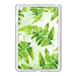 Fern Leaves Apple iPad Mini Case (White) Front