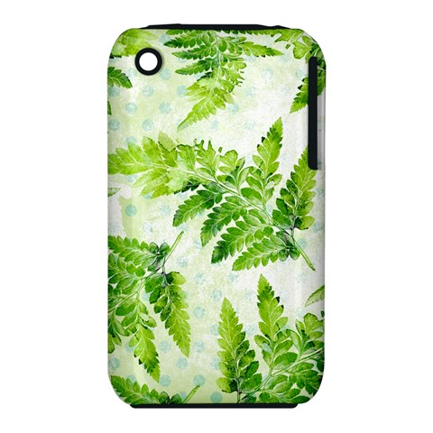 Fern Leaves Apple iPhone 3G/3GS Hardshell Case (PC+Silicone)