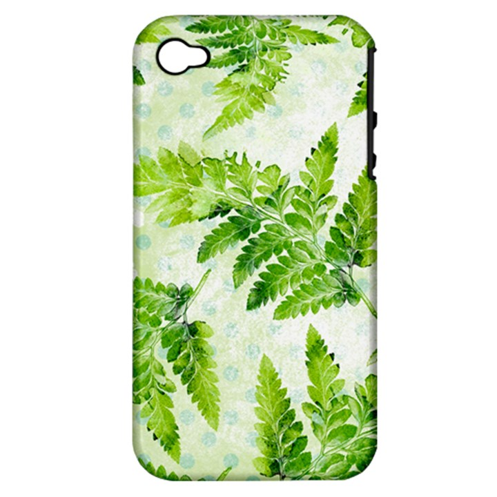 Fern Leaves Apple iPhone 4/4S Hardshell Case (PC+Silicone)