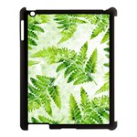 Fern Leaves Apple iPad 3/4 Case (Black) Front