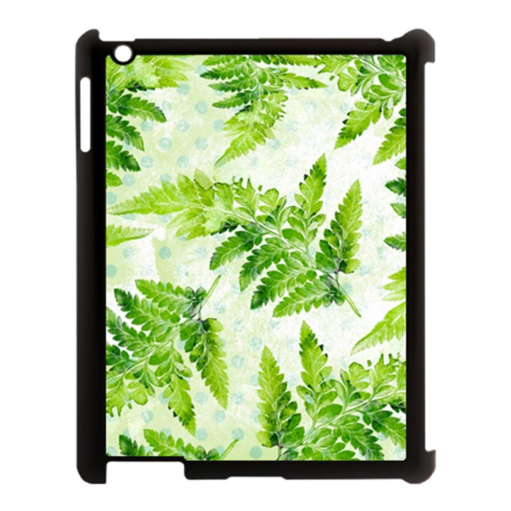 Fern Leaves Apple iPad 3/4 Case (Black)