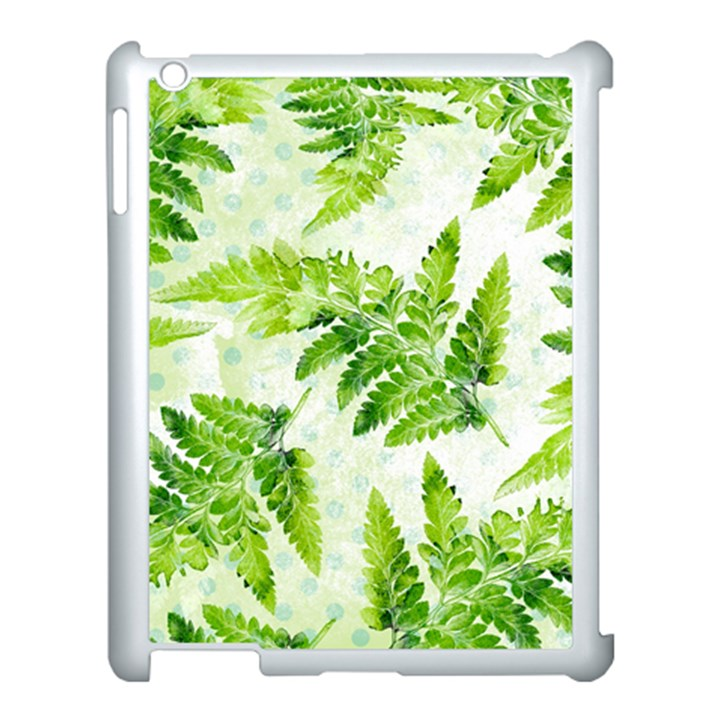 Fern Leaves Apple iPad 3/4 Case (White)
