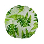 Fern Leaves Standard 15  Premium Round Cushions Back