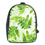 Fern Leaves School Bags (XL)  Front