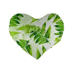 Fern Leaves Standard 16  Premium Heart Shape Cushions