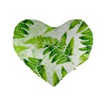 Fern Leaves Standard 16  Premium Heart Shape Cushions Front