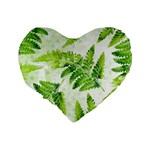 Fern Leaves Standard 16  Premium Heart Shape Cushions Back