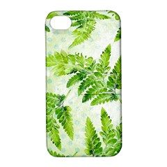 Fern Leaves Apple Iphone 4/4s Hardshell Case With Stand