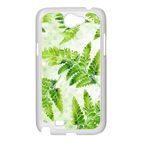 Fern Leaves Samsung Galaxy Note 2 Case (White)