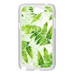 Fern Leaves Samsung Galaxy Note 2 Case (White) Front