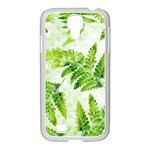Fern Leaves Samsung GALAXY S4 I9500/ I9505 Case (White) Front