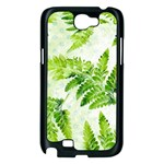 Fern Leaves Samsung Galaxy Note 2 Case (Black) Front