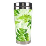 Fern Leaves Stainless Steel Travel Tumblers Left