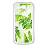 Fern Leaves Samsung Galaxy S3 Back Case (White) Front
