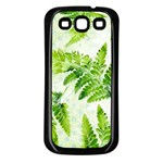 Fern Leaves Samsung Galaxy S3 Back Case (Black) Front
