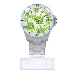 Fern Leaves Plastic Nurses Watch