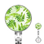 Fern Leaves Stainless Steel Nurses Watch Front