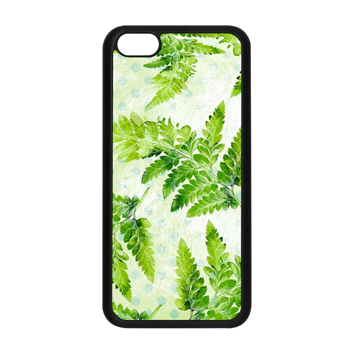 Fern Leaves Apple iPhone 5C Seamless Case (Black)