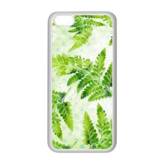 Fern Leaves Apple Iphone 5c Seamless Case (white)