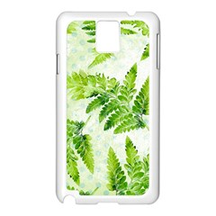 Fern Leaves Samsung Galaxy Note 3 N9005 Case (white)