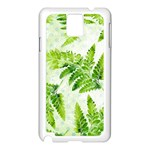 Fern Leaves Samsung Galaxy Note 3 N9005 Case (White) Front
