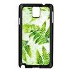 Fern Leaves Samsung Galaxy Note 3 N9005 Case (Black) Front