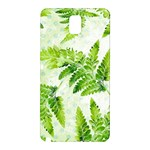 Fern Leaves Samsung Galaxy Note 3 N9005 Hardshell Back Case Front