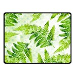 Fern Leaves Double Sided Fleece Blanket (Small)  50 x40 Blanket Back