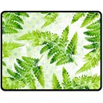 Fern Leaves Double Sided Fleece Blanket (Medium)  60 x50 Blanket Back