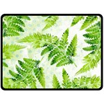 Fern Leaves Double Sided Fleece Blanket (Large)  80 x60 Blanket Back