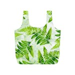 Fern Leaves Full Print Recycle Bags (S)  Back