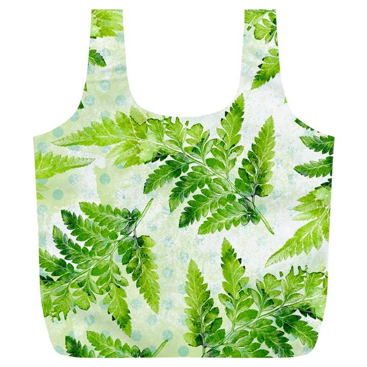 Fern Leaves Full Print Recycle Bags (L)