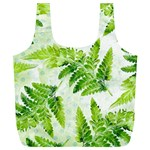 Fern Leaves Full Print Recycle Bags (L)  Back