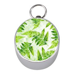 Fern Leaves Mini Silver Compasses