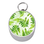 Fern Leaves Mini Silver Compasses Front